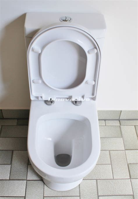 Back To Wall Ceramic Toilet Suite S&P Trap Soft Close Seat