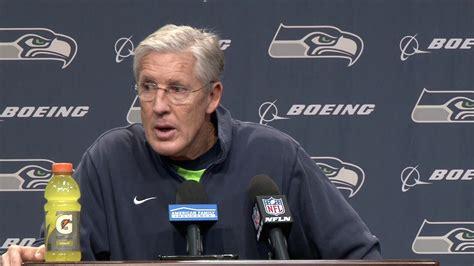 seahawks head coach pete carroll week  wednesday press
