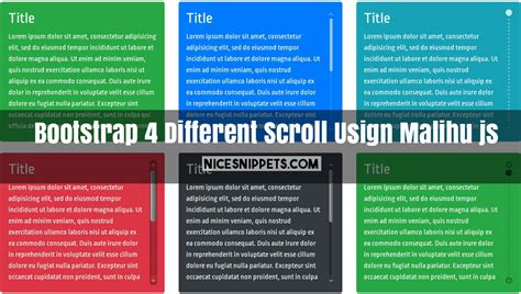 Css Div Scrollbar Style by Bootstrap 4 With Different Style Scroll Demo Usign Malihu Js