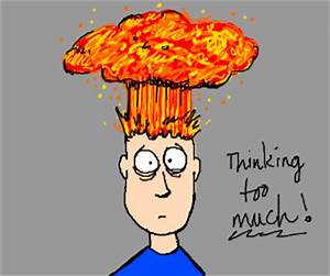 When your head explodes from too much stress