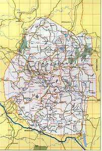 Detailed road map of Swaziland. Swaziland detailed road ...