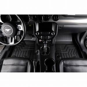 Custom Fit 3D TPE All Weather Car Floor Mats Liners for Ford Mustang 2014-2020 (1st & 2nd Rows ...