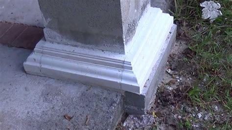 porch column wraps concrete column base and crown molding 2 1