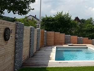 Pool Aus Holz : bau eines vorgartens mit neuer terasse pool und sichtschutz marktheidenfeld garterra ~ Frokenaadalensverden.com Haus und Dekorationen