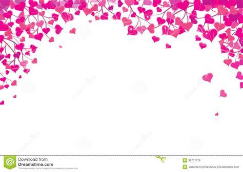 vector hearts border  valentines day design royalty