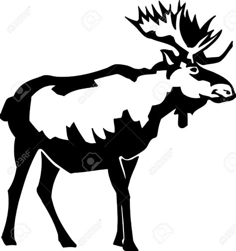 Moose Silhouette At Getdrawingscom Free For Personal