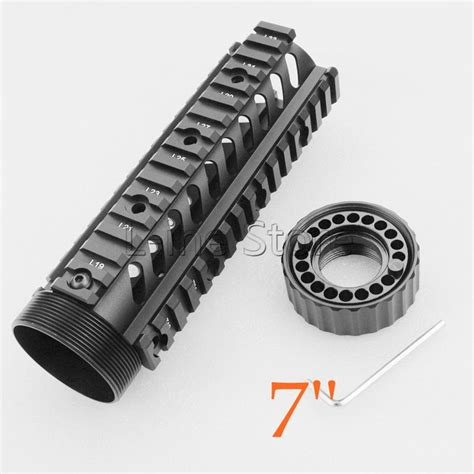 rail quad ar ar15 picatinny accessories m4 handguard float ris hunting tactical fits m16 rifle shooting gear carbine length system