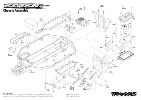 Rc Boat Part Diagram by Slash 58034 1 Chassis Assembly Exploded View Traxxas