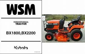 Kubota Bx1800 Bx2200 Compact Tractor    Mower Service