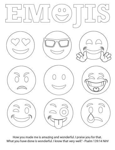 emojis coloring page coloring pages