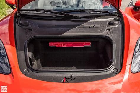 porsche trunk first drive porsche 718 boxster s