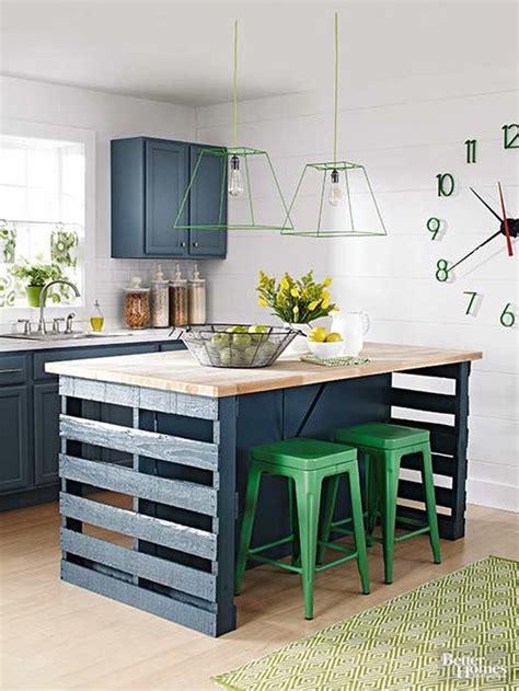 palette de couleur pour cuisine îlot central en palette 32 idées diy pour customiser sa