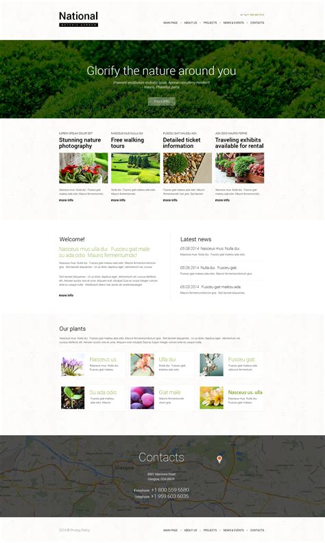 garden planning website garden design responsive website template 49666