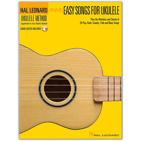 Are you searching for ukulele music blogs? Hal Leonard More Easy Songs For Ukulele Book/Online Audio   Musician's Friend