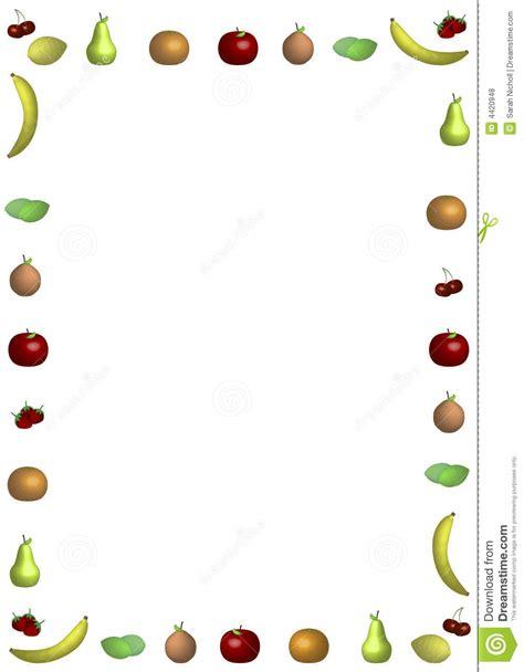 Cut Apple Flyer Template Background In Microsoft Word Cadre De Fruit Illustration Stock Image Du Fond Frais