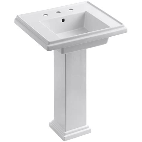 kohler tresham pedestal combo bathroom sink with 8 in