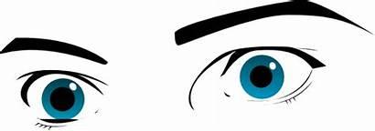 Eyes Wide Open Gazing Eye Gaze Bw