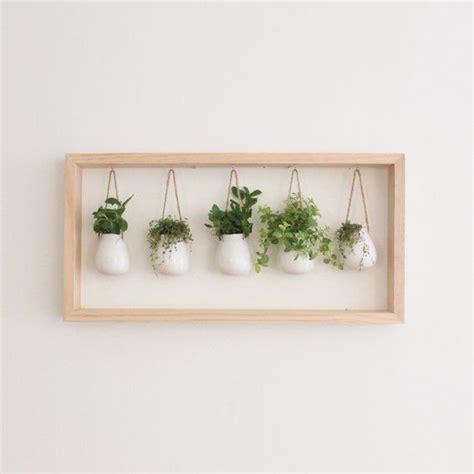 Indoor Herb Garden  Wooden Frame Wall Mount Planter