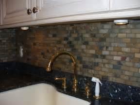 Tumbled Slate Tile Backsplash