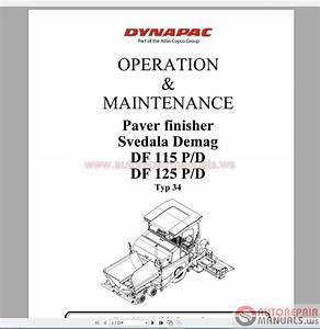 Dynapac Demag Df115-125p Operation Maintenance