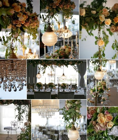 Elegant Hanging Wedding Reception Decor Flowers