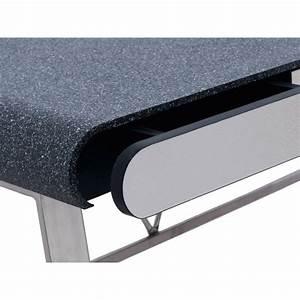 Bureau En Metal : bureau en m tal charles 110cm gris ~ Nature-et-papiers.com Idées de Décoration