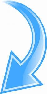 arrow curved blue down - /signs_symbol/arrows/curved_arrow ...