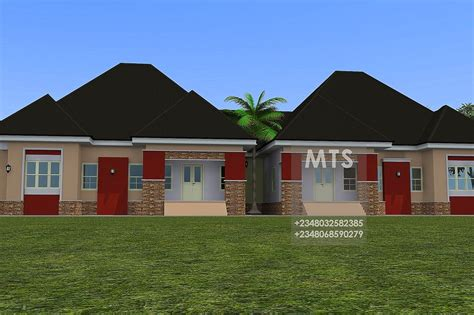 3 Bedroom Twin Bungalow  Residential Homes And Public Designs