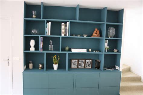 le de bureau bleu construire sa bibliothèque sur mesure notre maison