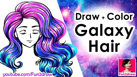 draw and color how to draw hair draw and color easy mei yu