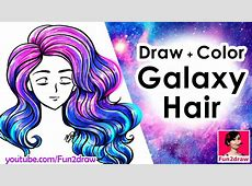 How to draw hair Draw and Color EASY! Mei Yu YouTube