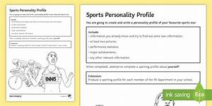 PE Cover Lesson - Sport Personality Profile Worksheet ...