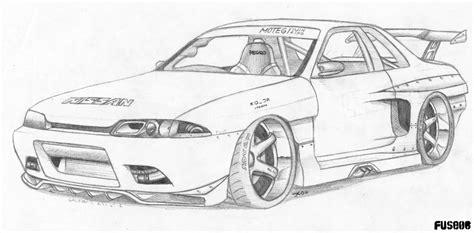 drawn car nissan pencil   color drawn car nissan