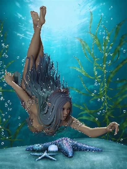 Fantasy Sea Gifs Underwater Island Under Scared
