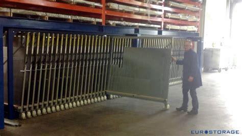 vertical metal sheet storage rack  extendable drawers
