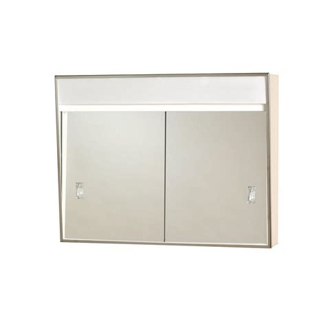 home depot medicine cabinets with lights zenith 24 in x 18 in lighted sliding door surface mount