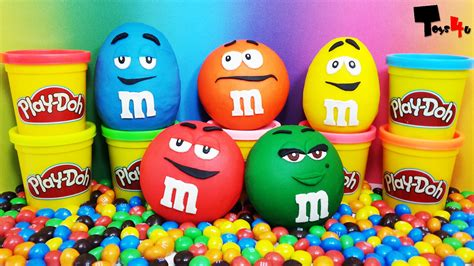 M&M's Surprise Eggs Play Doh YouTube