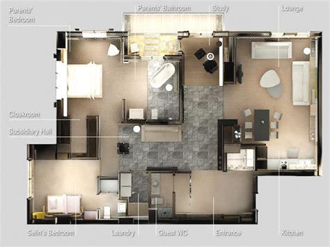 plan appartement 2 chambres 50 plans en 3d d 39 appartements et maisons page 5 sur 6