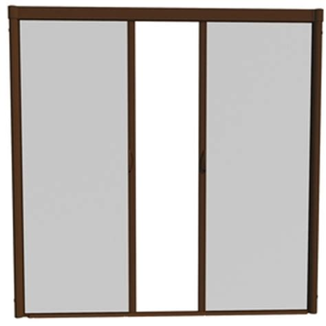 larson retractable screen door shop larson 84 in x 79 in brownstone retractable screen