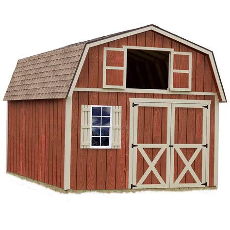 Home Depot Storage Sheds Wood by Best Barns Millcreek 12 Ft X 20 Ft Wood Storage Shed Kit