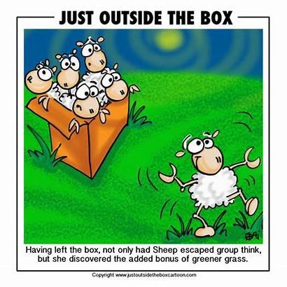 Cartoon Sheep Funny Grass Greener Side Clipart