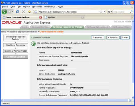 Un Resumen De Trabajo by Instalar Y Realizar Aplicaci 243 N Web Con Oracle Application Express Proyecto A