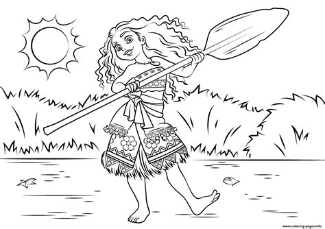 moana template coloring pictures of moana coloring pages