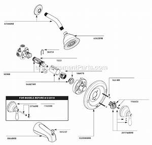 Moen 82496BRB Parts List And Diagram