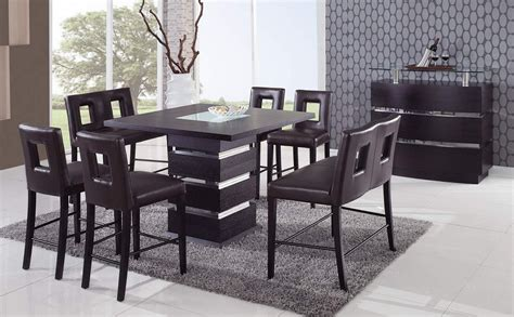 wenge contemporary counter height bar table prime classic