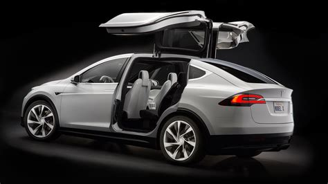Wallpaper Tesla Model X, White, Electric Cars, Suv, 2016