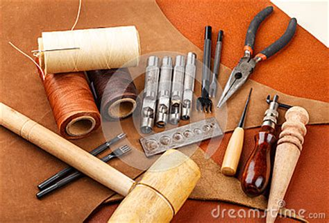 handmade leather craft tool stock images image