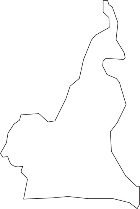 cameroon outline map