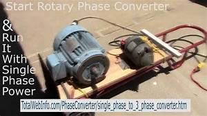 Single Phase To 3 Phase Rotary Phase Converter