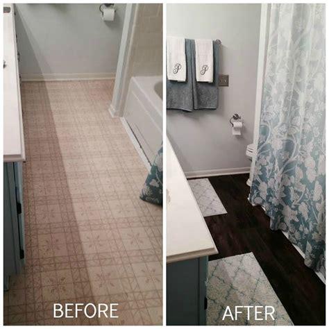 hometalk peel and stick brown tiles for bathroom floor